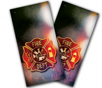 """Fire Badge"" Cornhole Wrap"
