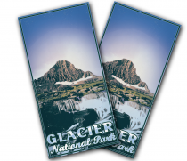 """Glacier National Park"" Cornhole Wrap"