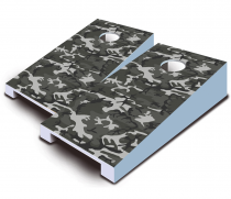 """Gray Camo"" Tabletop Cornhole Set"