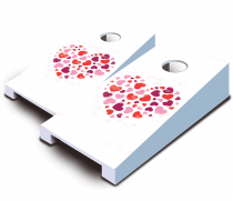 """Heart Heart"" Tabletop Cornhole Set"
