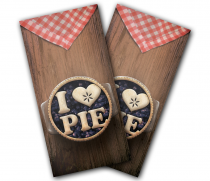 """I Love Pie"" Cornhole Wrap"