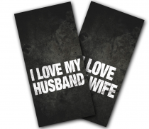 """I Love My Spouse"" Cornhole Wrap"