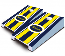 """Michigan Stripe"" Tabletop Cornhole Set"