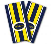 """Michigan Stripe"" Cornhole Wrap"