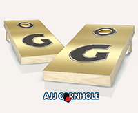 """Monogram Gold Bling"" Cornhole Set"