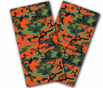 """Orange Camo"" Cornhole Wrap"