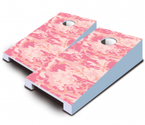 """Pink Camo"" Tabletop Cornhole Set"