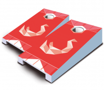 """Red Swan"" Tabletop Cornhole Set"