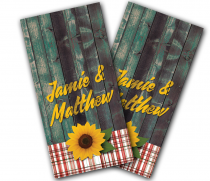 """Sunflower Couple"" Cornhole Wrap"