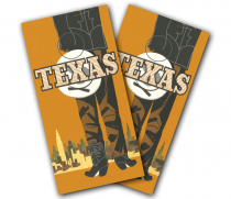 """Texas Graphic"" Cornhole Wrap"