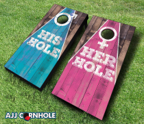 """Their Holes"" Cornhole Set"