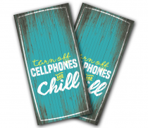 """Turn Off Cellphones"" Cornhole Wrap"