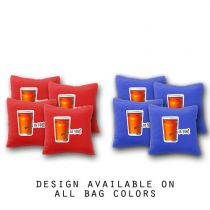 """Beers to You"" Cornhole Bags - Set of 8"