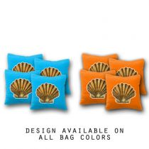 """Clamshell"" Cornhole Bags - Set of 8"