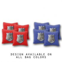"""Respect the Badge"" Cornhole Bags - Set of 8"
