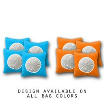 """Sand Dollar"" Cornhole Bags - Set of 8"