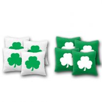 """Shamrock"" Cornhole Bags - Set of 8"