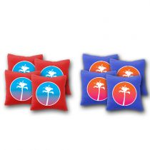 """Sunset Palm Trees"" Cornhole Bags - Set of 8"