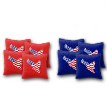 """USA Flag in Eagle"" Cornhole Bags - Set of 8"