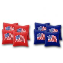 """USA Flag Wavy"" Cornhole Bags - Set of 8"