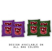 """Babble Bear"" Cornhole Bags - Set of 8"