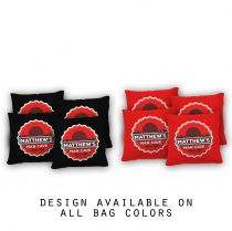 """Bottlecap Mancave"" Cornhole Bags - Set of 8"