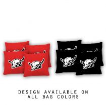 """Bull Skull"" Cornhole Bags - Set of 8"