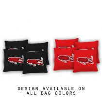 """Cooked Crawdad"" Cornhole Bags - Set of 8"
