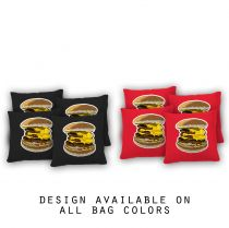 """Dirty Burger"" Cornhole Bags - Set of 8"