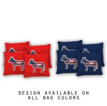 """Donkey Life"" Cornhole Bags - Set of 8"