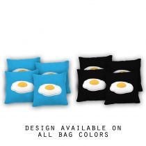 """Eggs Are Life"" Cornhole Bags - Set of 8"