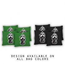 """Gas Mask"" Cornhole Bags - Set of 8"