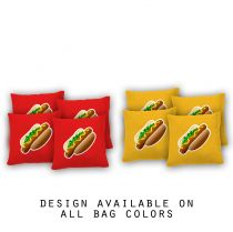 """I Love Hotdogs"" Cornhole Bags - Set of 8"