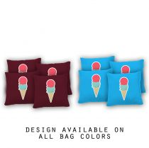 """Ice Cream"" Cornhole Bags - Set of 8"