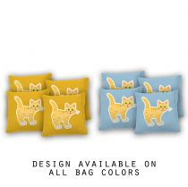 """Kitty"" Cornhole Bags - Set of 8"
