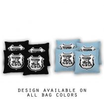"""Monogram Shield"" Cornhole Bags - Set of 8"