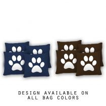 """Paw Print"" Cornhole Bags - Set of 8"