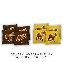 """Pony"" Cornhole Bags - Set of 8"