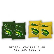 """Rainforest Frog"" Cornhole Bags - Set of 8"