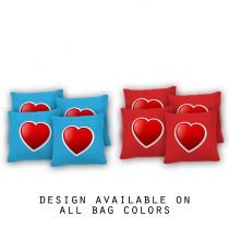 """Red Heart"" Cornhole Bags - Set of 8"