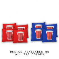 """Red Plastic Cup"" Cornhole Bags - Set of 8"