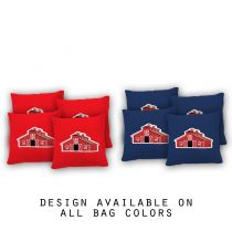 """Red Barn"" Cornhole Bags - Set of 8"