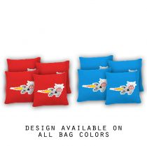 """Rocket Cow"" Cornhole Bags - Set of 8"