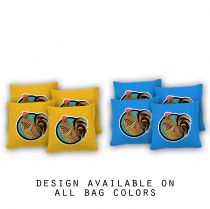 """Rooster Pattern"" Cornhole Bags - Set of 8"