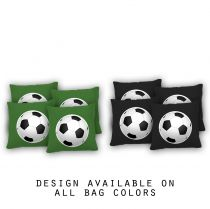 """Soccer Ball"" Cornhole Bags - Set of 8"