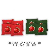 """Strawberry"" Cornhole Bags - Set of 8"