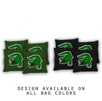 """Swamp Alligator"" Cornhole Bags - Set of 8"