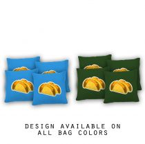 """Tacos"" Cornhole Bags - Set of 8"