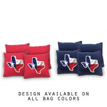 """Texas Outline"" Cornhole Bags - Set of 8"