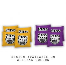 """Tiger Toon"" Cornhole Bags - Set of 8"